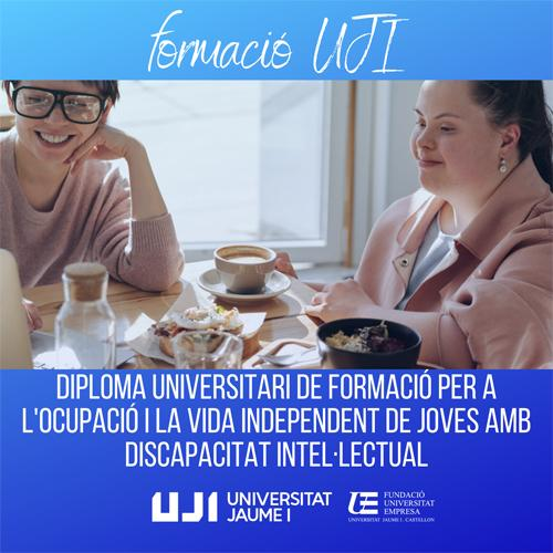 L'UJI ofereix formació per joves amb discapacitat intel·lectual durant sis mesos amb un programa gratuït